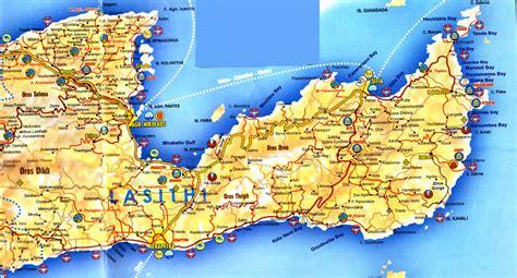 Carte Du Monde Grece Crete by Carte Touristique Crete Carte Du Monde