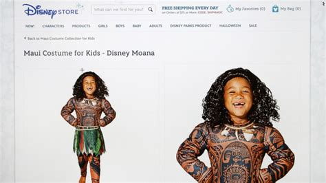 Cultural Appropriation Halloween Examples by Disney Halts Sales Of Moana Costume After Racism