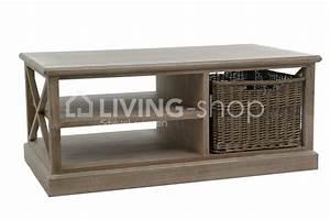 j line landelijke salontafels houten salontafel met mand With meuble j line