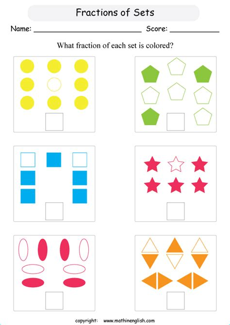 colored fraction   set  objects