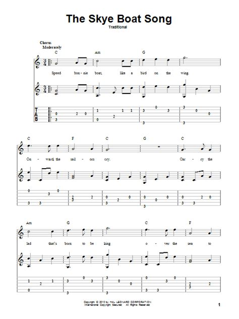 Boat Song For Baby by The Boat Song Sheet Direct