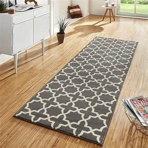 Flur Teppich Grau : design velours teppichl ufer br cke teppich diele flur kurzflor glam grau creme ebay ~ Indierocktalk.com Haus und Dekorationen
