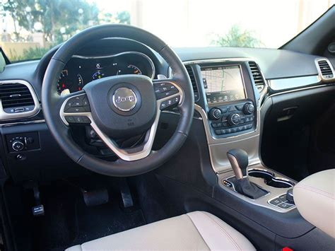 2017 jeep grand cherokee dashboard 2017 jeep grand cherokee road test and review autobytel com