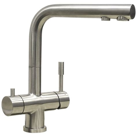 Kitchen Mixer With Water Filter by Astini Azzurra Brushed Stainless Steel Kitchen 3 Way
