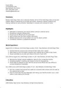 Help Desk Resume Skills by Professional Wells Fargo Teller Templates To Showcase Your