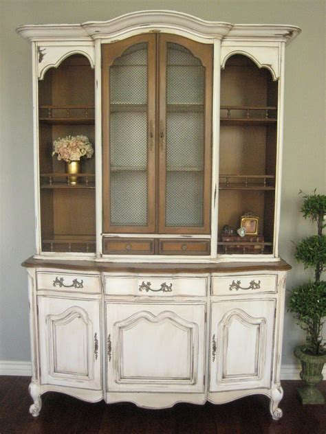 french provincial china cabinet european paint finishes french provincial hutch