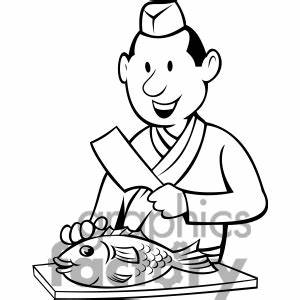Butcher Clipart Black And White - ClipartXtras