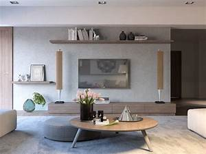 Meuble Salon Moderne : meuble tv salon moderne idees accueil design et mobilier ~ Premium-room.com Idées de Décoration