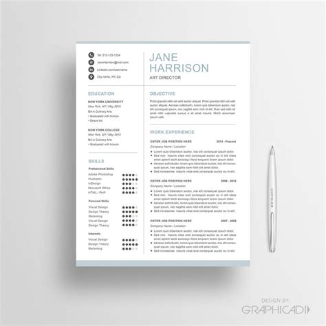 Etsy Resume Template 27 Best Etsy Resume Templates Etsy Cv Templates Images