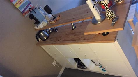 ilot central de cuisine ikea table de bar avec kallax