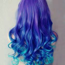 Blue Green and Purple Hair Color