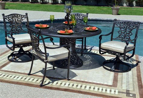 serena luxury 4 person all welded cast aluminum patio