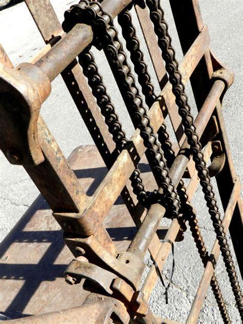 Hand Crank Chain Drive Lift at 1stdibs