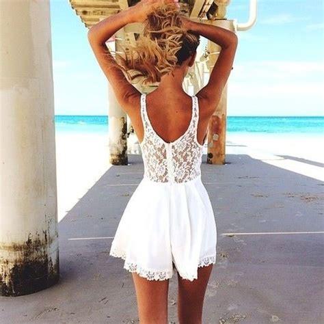 weisses kleid mit spitze fashion strandkleid weiss