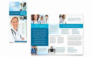 Medical billing coding tri fold brochure template design for Health pamphlet template