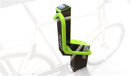 bikeep smart bike rack syncs   phone  lock  bicycle safely