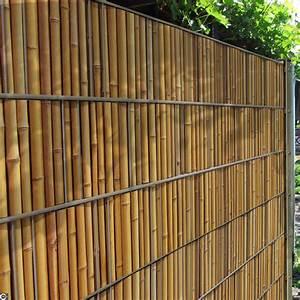 Garten Sichtschutz Bambus : sichtschutz zaunstreifen mit bambuszaun motiv zum einflechten ~ A.2002-acura-tl-radio.info Haus und Dekorationen