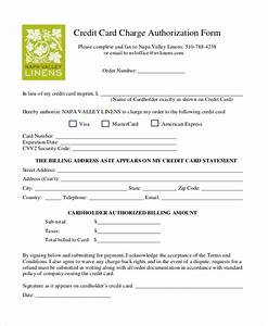 sample credit card authorization form 12 free documents With authorization to charge credit card template