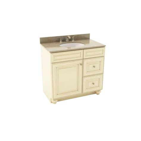 Silestone Vanity Top by American Woodmark 37 In Vanity In Hazelnut With
