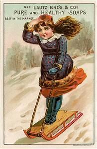 vintage sledding image
