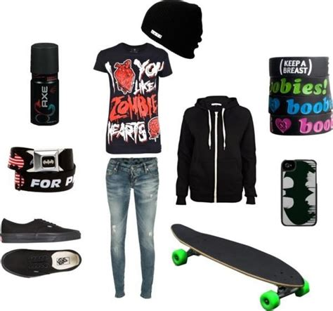 Skater/tomboy side | outfitsu2665 | Pinterest | Tomboy High school outfits and School outfits