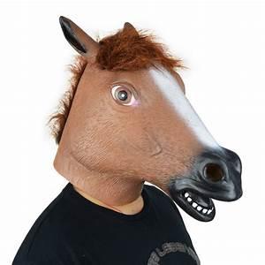LarpGears Novelty Halloween Costume Party Horse Head Mask ...
