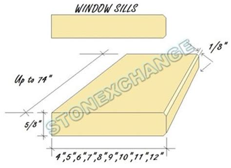 Window Sill Thickness by Wholesale Marble Window Sills Stonexchange Miami Florida
