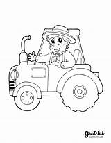 Coloring Thanksgiving Tractor Ausmalbilder Printable Farmer Boy Harvest Books Fall Coloriage Berufe Themed Traktor Vorlagen Malbuch Farm Bruder Traktoren Kinder sketch template