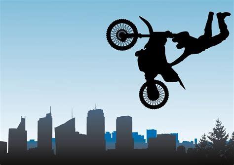 Free Vector Motorcycle Stunt Riding Illustration