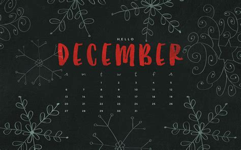 Free December 2015 Calendar Download