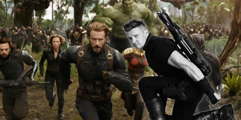 Hawkeye Isn The Avengers Infinity War Trailer