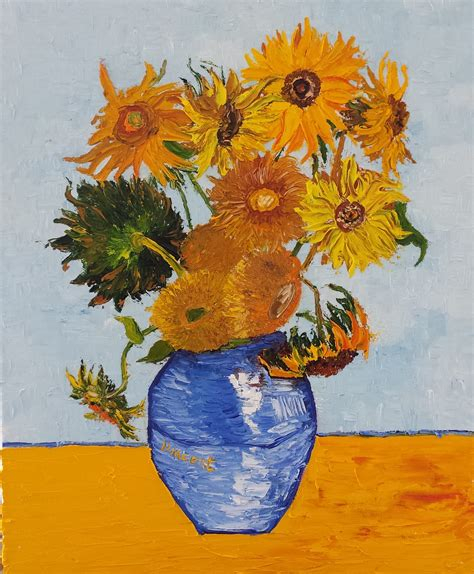 Van Gogh Sunflowers Painting Defendbigbirdcom