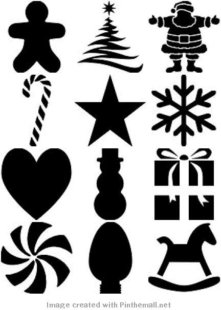 50 free printable christmas stencils silhouette cameo