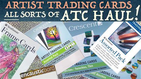 huge atc haul  sorts  artist trading cards