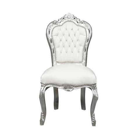 chaises blanche bianco barrocco della sedia lade statue di