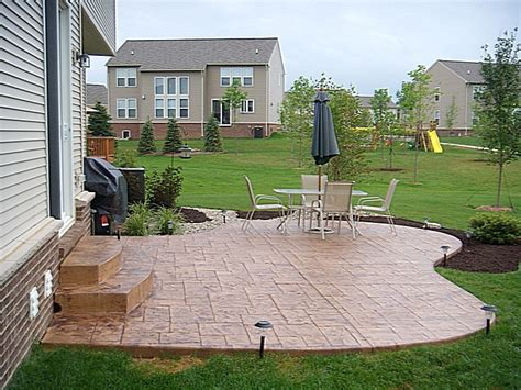 sted concrete patio landscaping