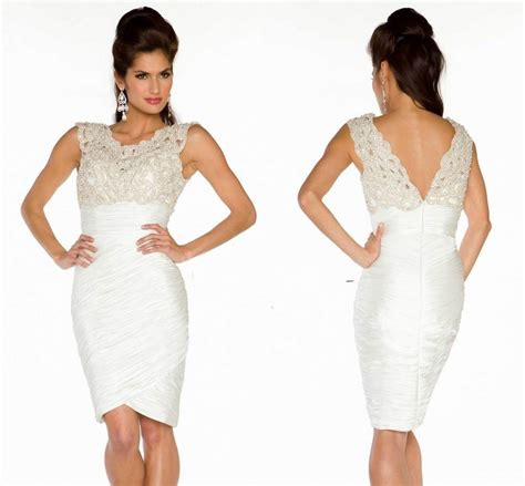 Plus Size White Cocktail Dresses Kzdress