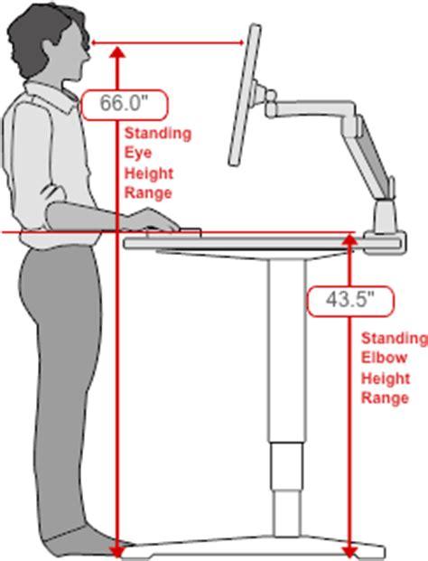 standing desk height calculator ergonomic standing desk height best home design 2018