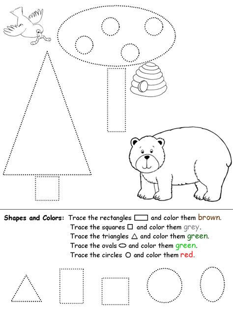 coloring shapes worksheet coloring home