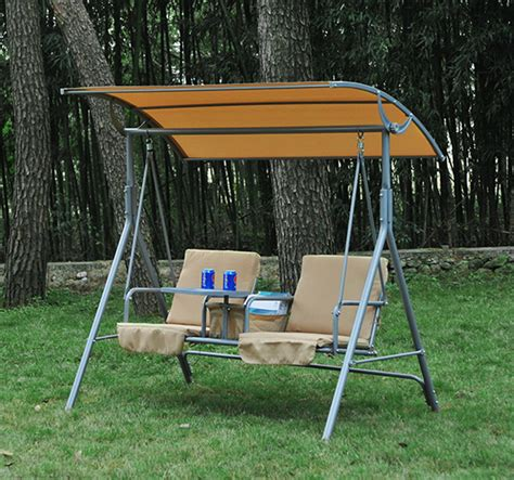 outsunny 2 person outdoor patio porch swing seat