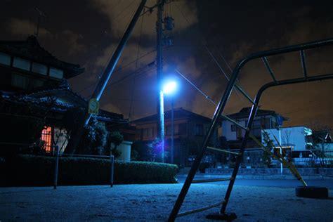 japan turning blue  night    streets