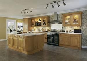 cuisine bois chene massif le bois chez vous With cuisine en bois massif moderne
