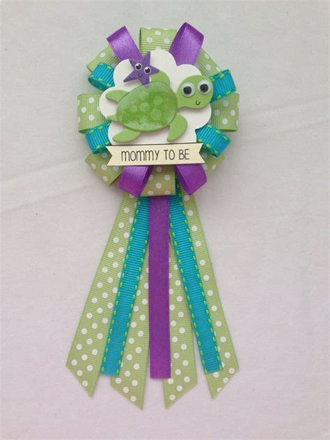 Turtles Baby Shower Theme by To Be Ribbon Corsage For Baby Shower Gender