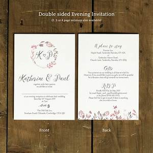 summer meadow wedding invitation feel good wedding With wedding invitations 2 pages