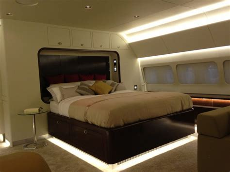 boeing business jet large private jet bedroom section