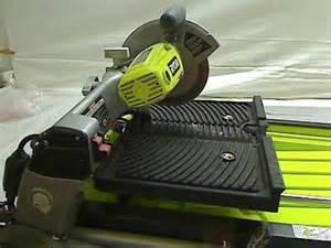 ryobi 1 3 4 hp 120 volt portable wet tile saw ws750l ebay