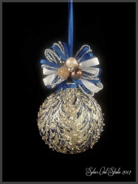 faberge style glittering christmas ornament