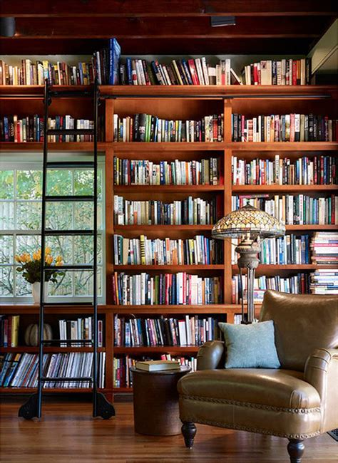 home design books small home library with ladder