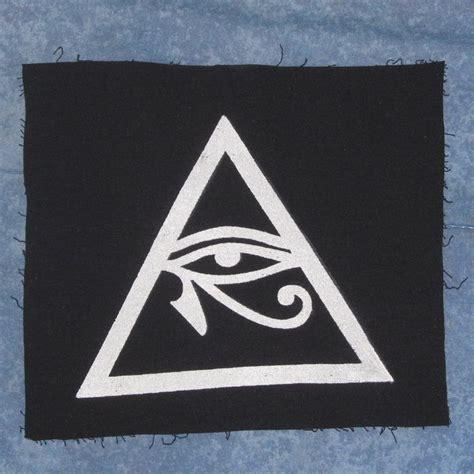 illuminati triangle illuminati symbol eye of horus in triangle patch large