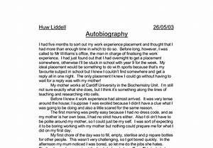 sample autobiographical essay for graduate schools